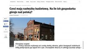 Czesi mają nadwyżkę budżetową. Na ile ich gospodarka góruje nad polską ?