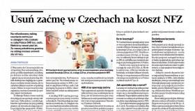 Usuń zaćmę w Czechach na koszt NFZ