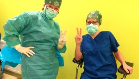 Dzisiaj do naszej Kliniki zawitali pacjenci z problemami AMD ( zwyrodnienie plamki żółtej występujace z wiekiem ).